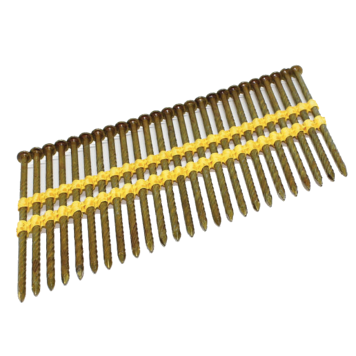 2.8 x 64mm Ring Galv 21 Degree Plastic Collated Framing Nails 2500 Per Box
