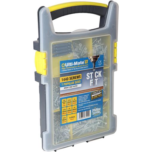 Ulti Mate Bright Zinc Site Pack Case 1440 Screws