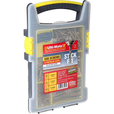 Ulti Mate Zinc Yellow Site Pack Case 600 Screws